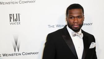 BEVERLY HILLS, CA - JANUARY 11:  Rapper/actor Curtis '50 Cent' Jackson attends The Weinstein Company & Netflix's 2015 Golden Globes After Party presented by FIJI Water, Lexus, Laura Mercier and Marie Claire at The Beverly Hilton Hotel on January 11, 2015 in Beverly Hills, California.  (Photo by Ari Perilstein/Getty Images for FIJI Water)