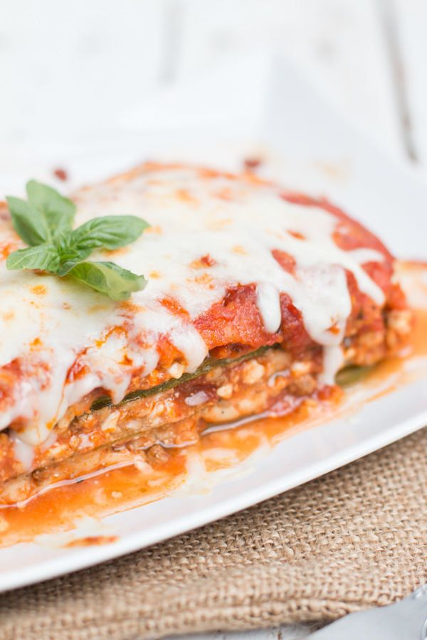 This lasagna can be made with meat or without, and uses a <em>lot</em>of zucchini -- one pan calls for six. Get the rec