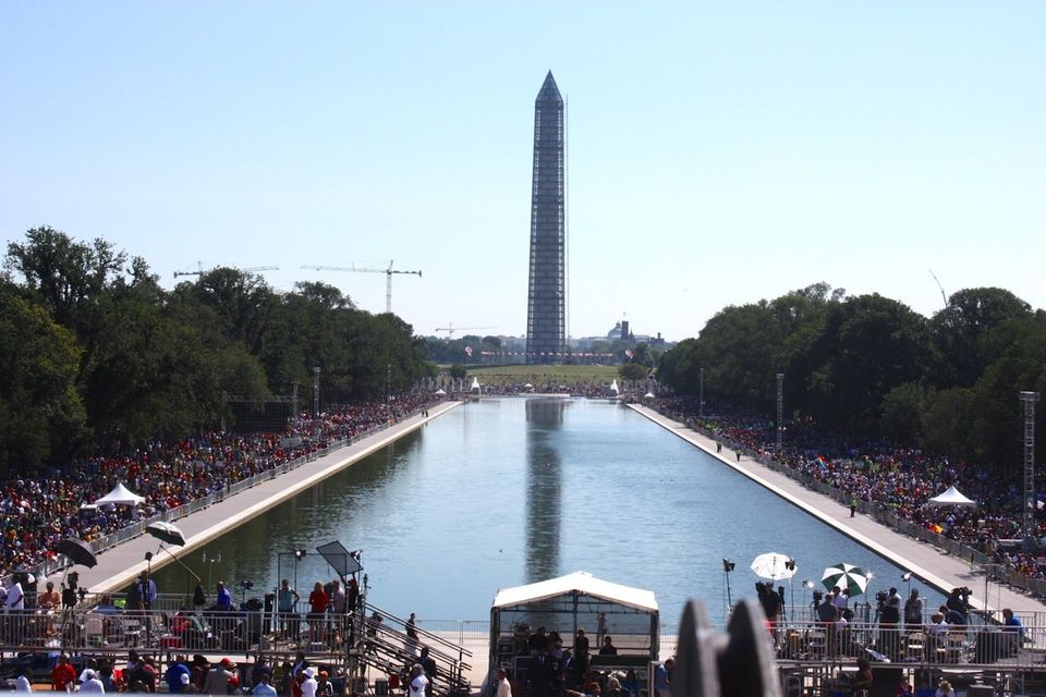 Crowds gathered at the Lincoln Memorial for the 50th anniversary of the March on Washington on August 24, 2013 (Ryan J. Reill