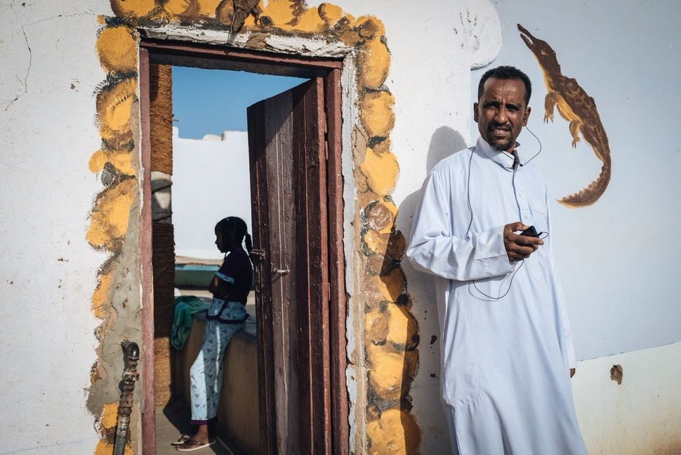 Mourad and his niece Sabrine on Seheil Island. Most Nubian men living on Seheil work in tourism.They bring tourists fro