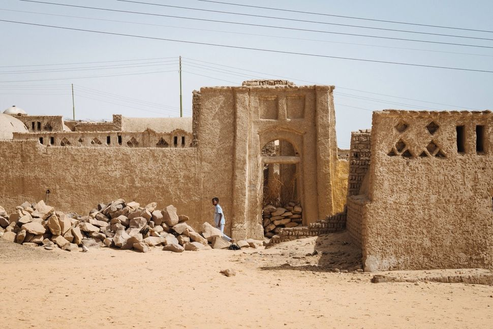 Ruins of the deserted Nag' Bleida, an old Nubian village in Gharb Aswan. They show a glimpse of what the original Nubian hous