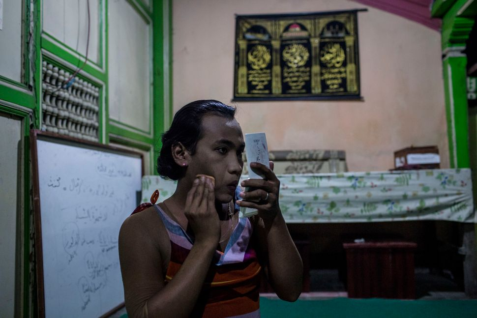 YOGYAKARTA, INDONESIA - JULY 12:   Inez, a member of a Pesantren boarding school, Al-Fatah, for transgender people known as '