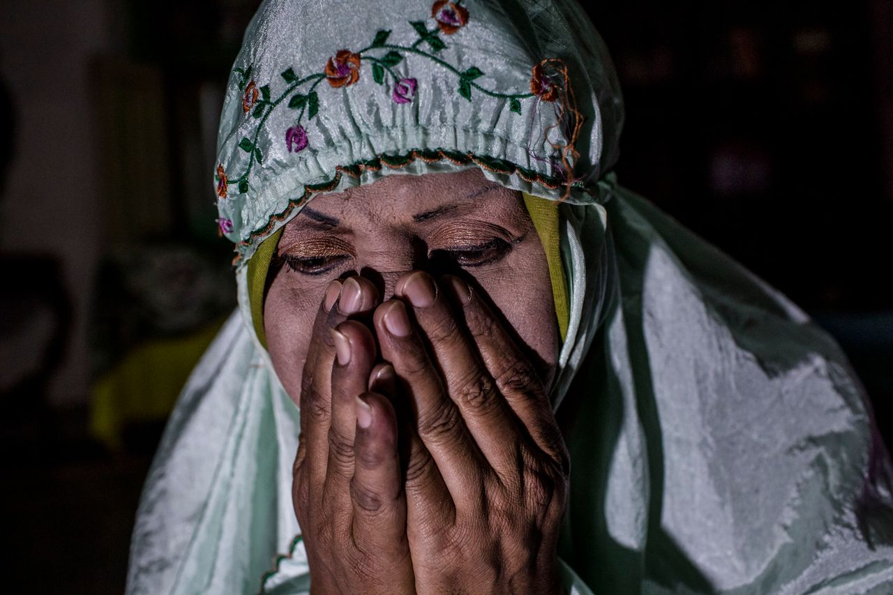 YOGYAKARTA, INDONESIA - JULY 08: Shinta Ratri, a leader of a Pesantren boarding school, Al-Fatah, for transgender people known as 'waria' prays during Ramadan on July 08, 2015 in Yogyakarta, Indonesia. During the holy month of Ramadan the 'waria' community gather to break the fast and pray together. 'Waria' is a term derived from the words 'wanita' (woman) and 'pria' (man). The Koran school Al-Fatah was set back last year's by Shinta Ratri at her house as a place for waria to pray, after their first founder Maryani died. The school operates every Sunday. Islam strictly segregates men from women when praying, leaving no-where for 'the third sex' waria to pray before now. (Photo by Ulet Ifansasti/Getty Images)