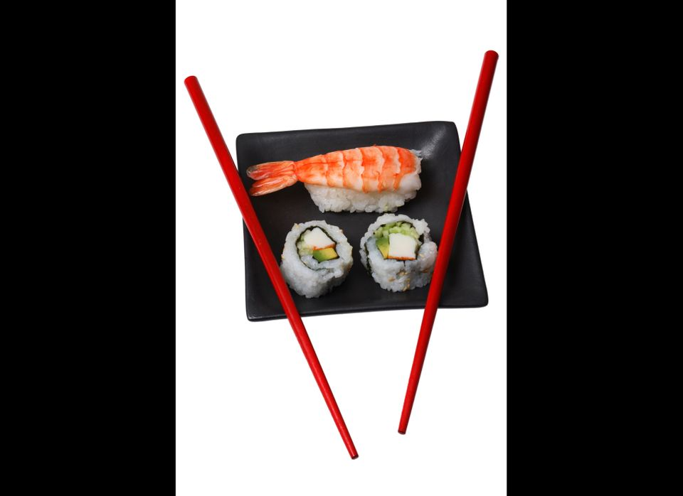 "Only <em>some</em>Sushi is off limits -- Sushi with cooked fish actually benefits the baby. According to <a href=""http://www."