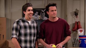 "Adam Goldberg and Matthew Perry appear on ""Friends."""