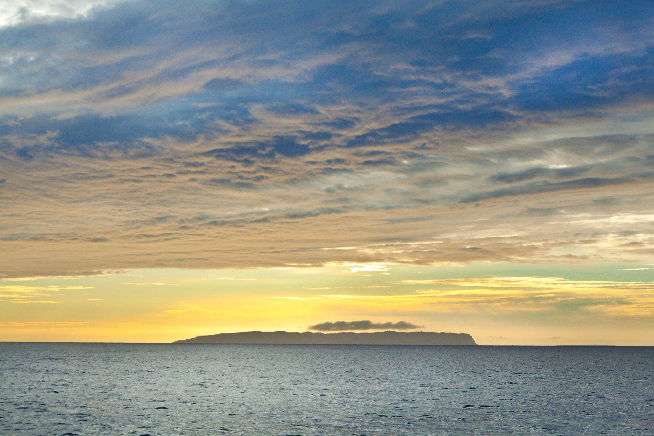 The island of Niihau as seen from Kauai
