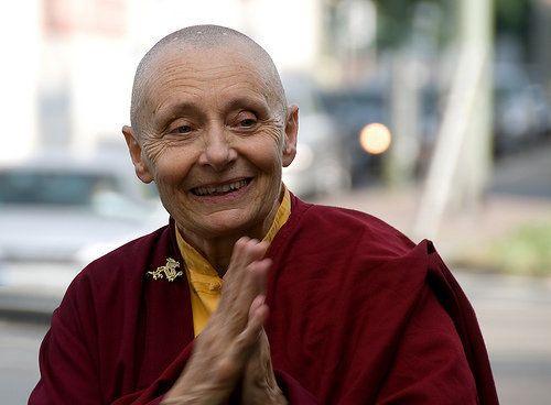 "<a href=""http://tenzinpalmo.com/tenzin_palmo/biography.htm"" target=""_blank"">Jetsunma Tenzin Palmo</a> is a Tibetan Buddhist n"