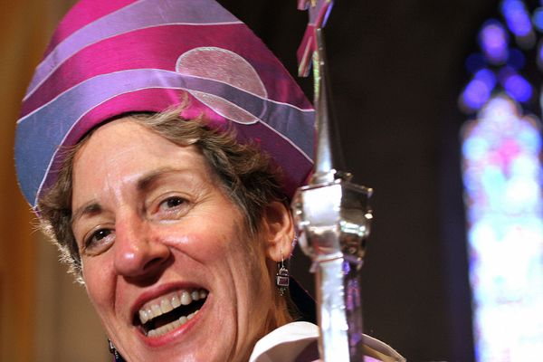 "Rev. Dr. Katharine Jefferts Schori is the <a href=""http://www.episcopalchurch.org/page/presiding-bishop"" target=""_blank"">26th"
