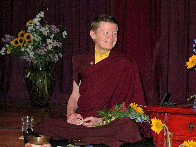 "Pema Chödrön became a novice nun in her mid 40s and received the full monastic ordination in the <a href=""http://pemachodronf"