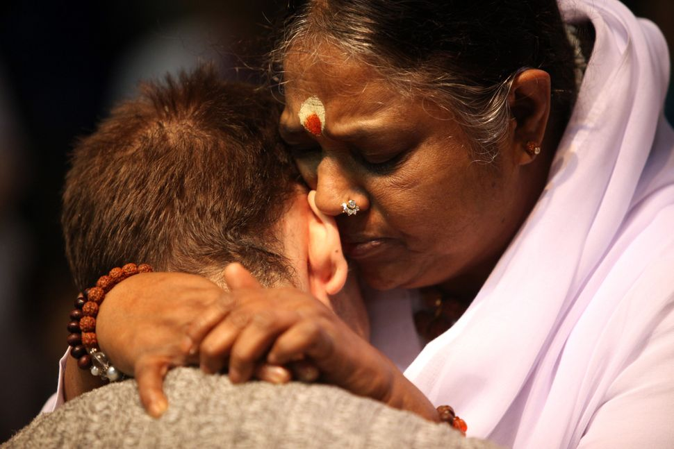 "Mata Amritanandamayi, known throughout the world as Amma the hugging saint, runs <a href=""http://amma.org/global-charities"" t"