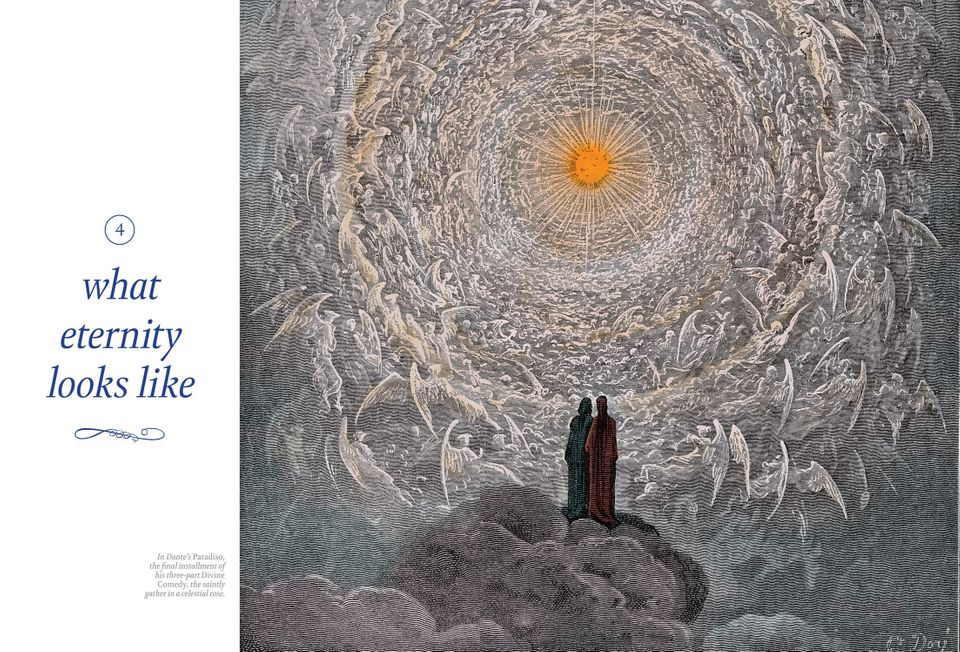 In Dante's Paradiso, the final installment of his three-part Divine Comedy, the saintly gather in a celestial rose.