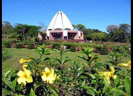 "Bahá'í House of Worship in Apia, Samoa -- The foundation stone of the <a href=""http://bahaisamoa.ws/"" target=""_hplink"">Baha'i"