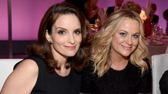 BEVERLY HILLS, CA - OCTOBER 20:  Honoree Tina Fey (L) and actress Amy Poehler attend ELLE's 21st Annual Women in Hollywood Celebration at the Four Seasons Hotel on October 20, 2014 in Beverly Hills, California.  (Photo by Michael Buckner/Getty Images for ELLE)