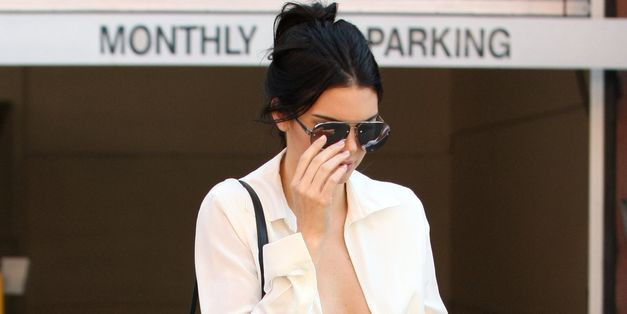 Kendall Jenner's Plunging Neckline Makes Any Gust Of Wind The Enemy