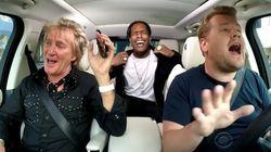 ロッド・スチュワート、ドライブしながら自分のヒット曲をノリノリで歌う(動画)