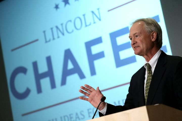 ARLINGTON, VA - JUNE 03:  Democratic presidential candidate and former Sen. Lincoln Chafee (D-RI) announces his candidacy for