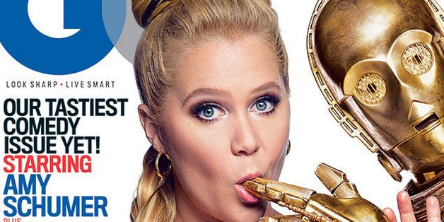 Amy Schumer Wears Princess Leia's Bikini On GQ Cover