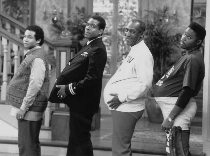"""THE COSBY SHOW -- """"The Day the Spores Landed"""" Episode 8 -- Air Date 11/09/1989 -- Pictured: (l-r) Geoffrey Owens as Elvin Tib"""