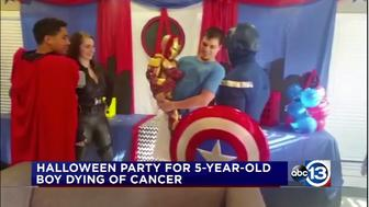 Billy Lee, 5-year-old with cancer, celebrates Halloween early