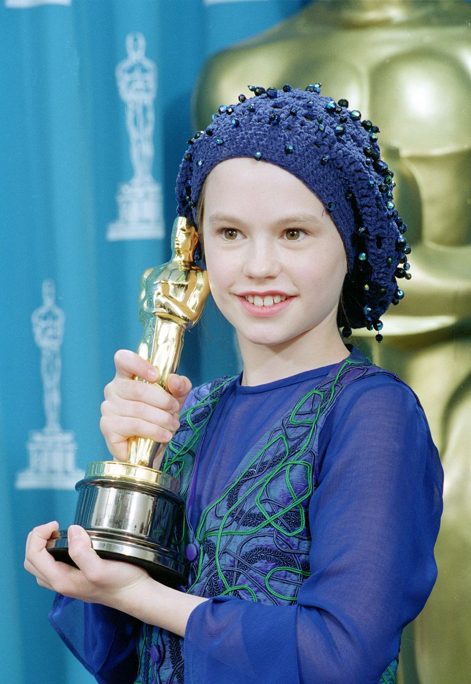 <strong>Then:</strong> Anna won the Oscar for Best Supporting Actress in 1994 at the age of 11 for her role in 'The Piano', m