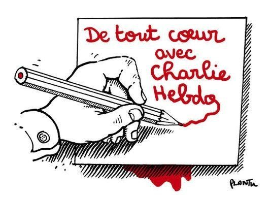 """Wholeheartedly with Charlie Hebdo."" – Plantu, illustrator for Le Monde"
