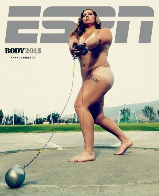 U.S. Olympic hammer thrower Amanda Bingson poses for the 2015 ESPN Body Issue