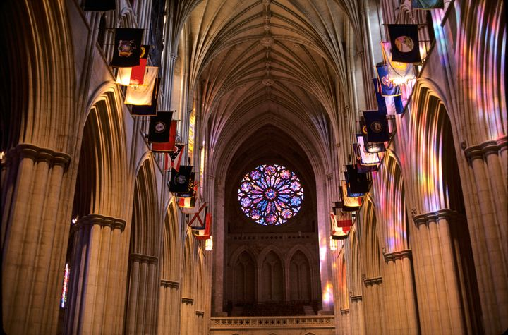 Interior view of the Washington National Cathedral.