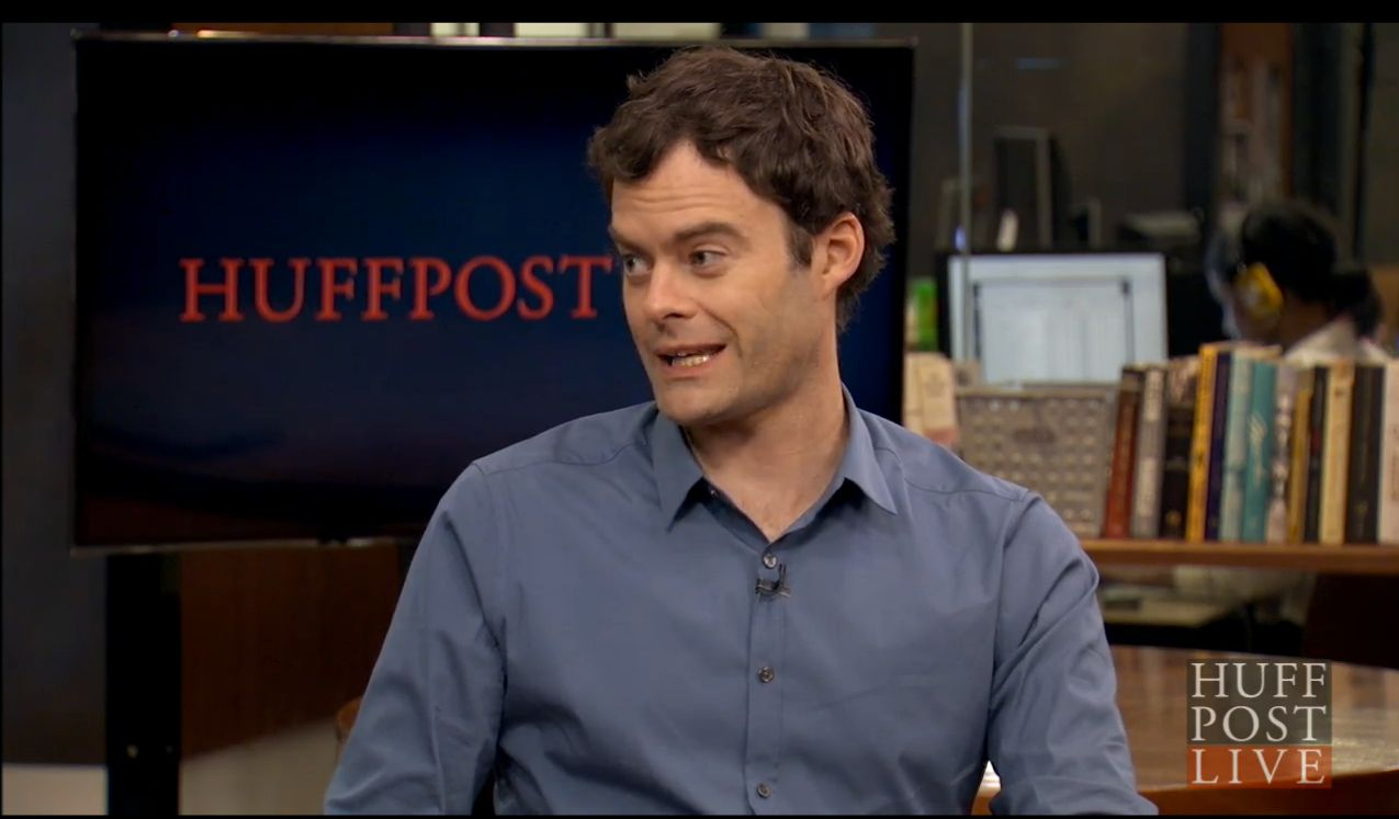 Bill Hader appears on HuffPost Live on July 15, 2015.