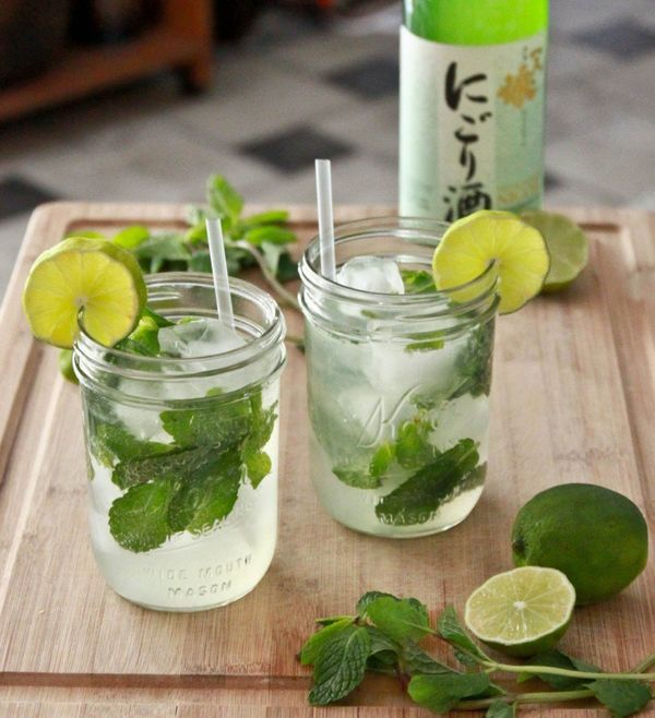 """Get the <a href=""""http://lindawagner.net/blog/2011/05/how-to-make-a-mojito-cocktail"""">Sake Champagne Mojito recipe</a>fro"""