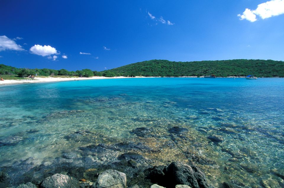 St. John's sister island St. Thomas might have the shopping and cruise ships, but if you're looking for pristine white-sand b