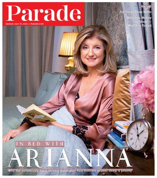 Parade magazine cover for Sunday, July 19, 2015, featuring Arianna Huffington
