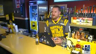 Bartender leaves beer out for soldier who died in Iraq.