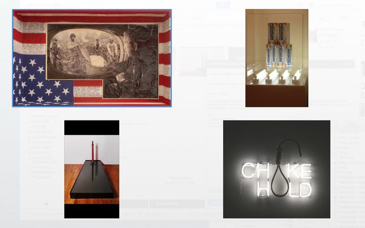 Top left- Title:  'Flyover'  Top right- Title:  'Cracka Please'  Lower left- Title: 'Domestication of Animals'  Lower right-