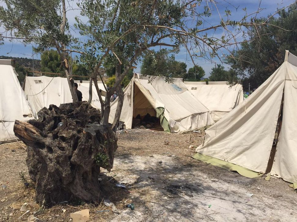 Tents fill the site in Kara Tepe camp in Lesbos, Greece.
