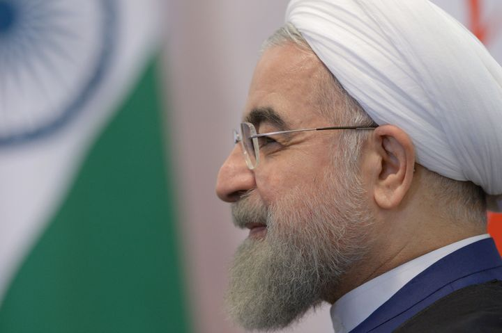UFA, RUSSIA - JULY 9:  In this handout image supplied by Host Photo Agency / RIA Novosti,  President of the Islamic Republic