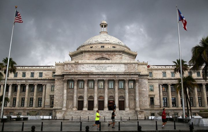 SAN JUAN, PUERTO RICO - JULY 01:  The Puerto Rican Capitol building is seen as the island's residents deal with the governmen