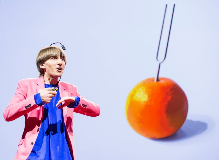 Neil Harbisson, sonochromatic cyborg artist, speaks during  Session 5: Shades of Openness, at TEDGlobal 2012 on Wednesday, Ju