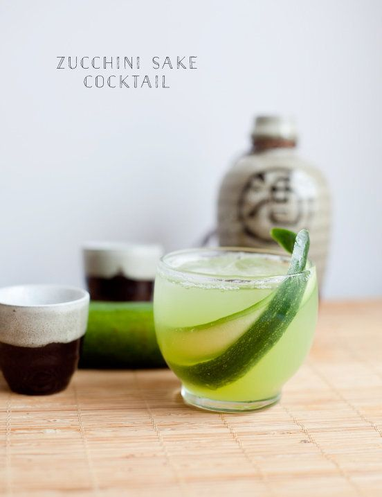 """Get the <a href=""""http://healthfullyeverafter.co/blog/2014/6/16/zucchini-cocktail"""">Zucchini Sake Cocktail recipe</a>from"""