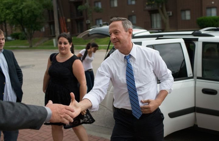 IOWA CITY, IA - JUNE 11:  Democratic presidential hopeful and former Maryland Gov. Martin O'Malley arrives for a campaign eve