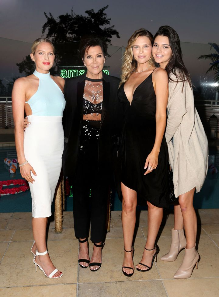 WEST HOLLYWOOD, CA - JULY 16:  (L-R) Erin Foster, Kris Jenner, Sara Foster, and Kendall Jenner attend Amazon Prime Summer Soi