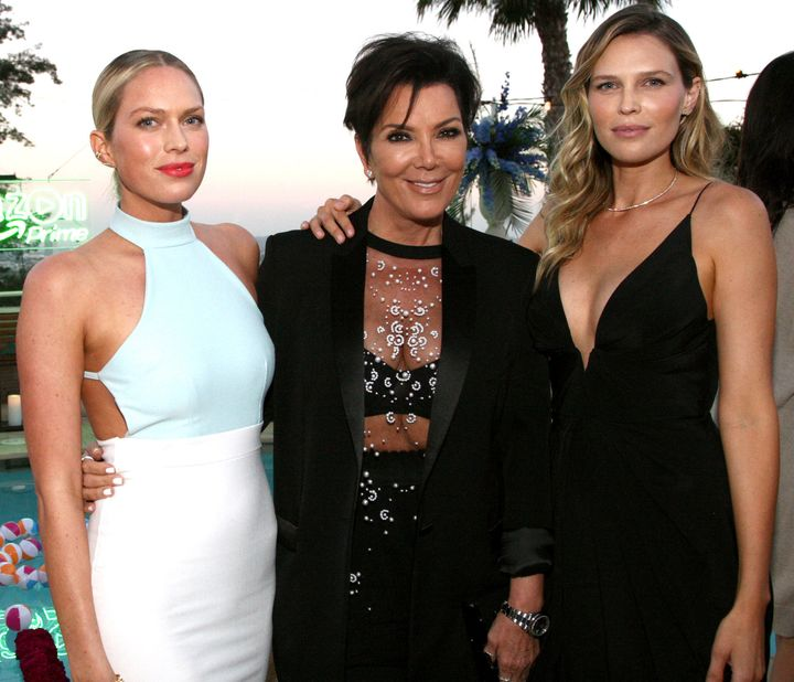 WEST HOLLYWOOD, CA - JULY 16:  Actress Erin Foster, TV personality Kris Jenner and actress Sara Foster attend the Amazon Prim