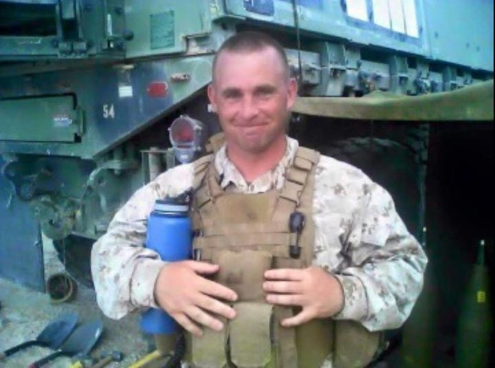 Gunnery Sgt. Thomas J. Sullivan is seen in a photo posted on Facebook. Sullivan was one of four service members killed during
