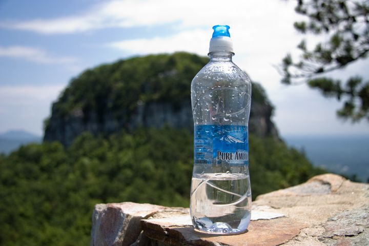 Water Bottle Overlooking Mt. Pilot