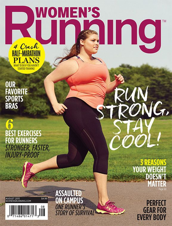 plus size model covers running magazine shatters stereotypes. Black Bedroom Furniture Sets. Home Design Ideas