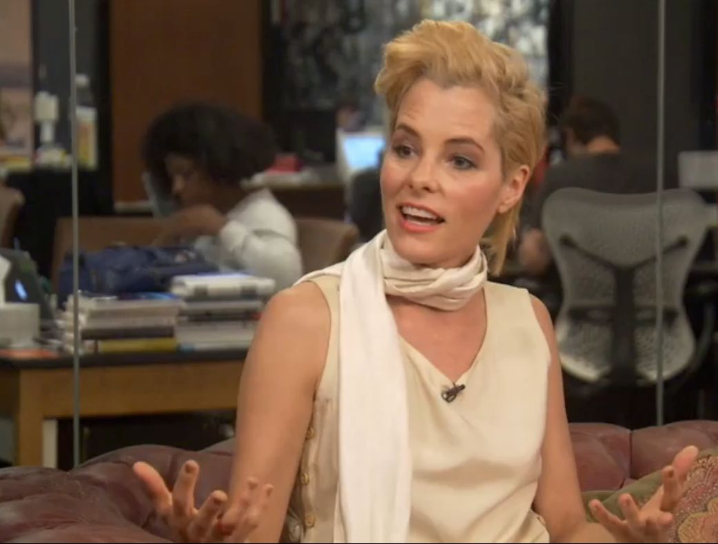 Parker Posey chatting with HuffPost Live.