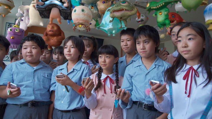 A scene from Takashi Murakami's JELLYFISH EYES.