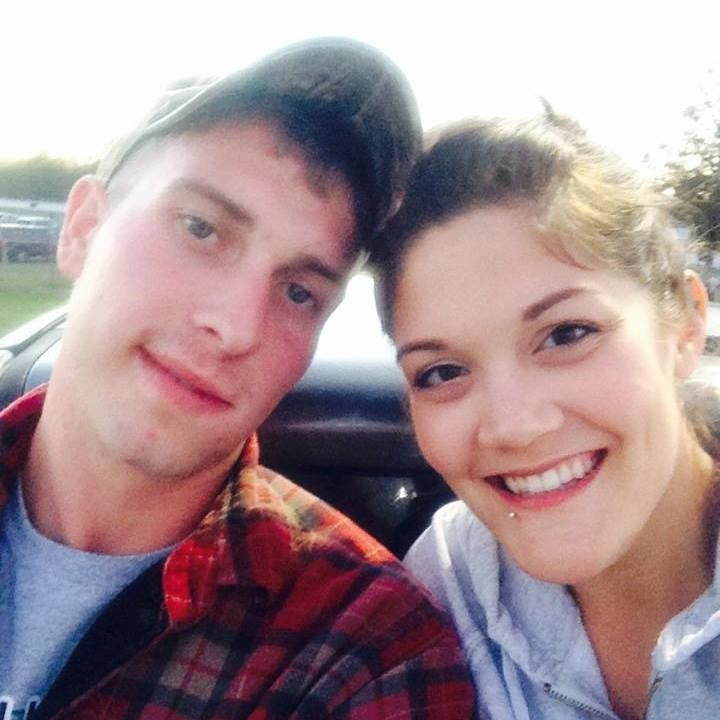 Carson Holmquist, left, with his wife Jasmine in a photo from Facebook.