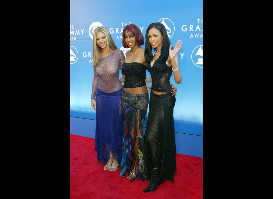 Beyonce back in the Destiny's Child days at the 2002 Grammys.