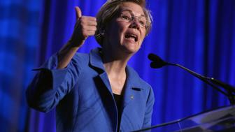 WASHINGTON, DC - JULY 16:  U.S. Sen. Elizabeth Warren (D-MA) addresses the 10th annual Make Progress National Summit at the Walter E. Washington Convention Center July 16, 2015 in Washington, DC.  Hundreds of youth leaders, student activists, and organizers gather for the convention which is organized by Generation Progress, the youth engagement arm of the liberal think tank Center for American Progress.  (Photo by Chip Somodevilla/Getty Images)
