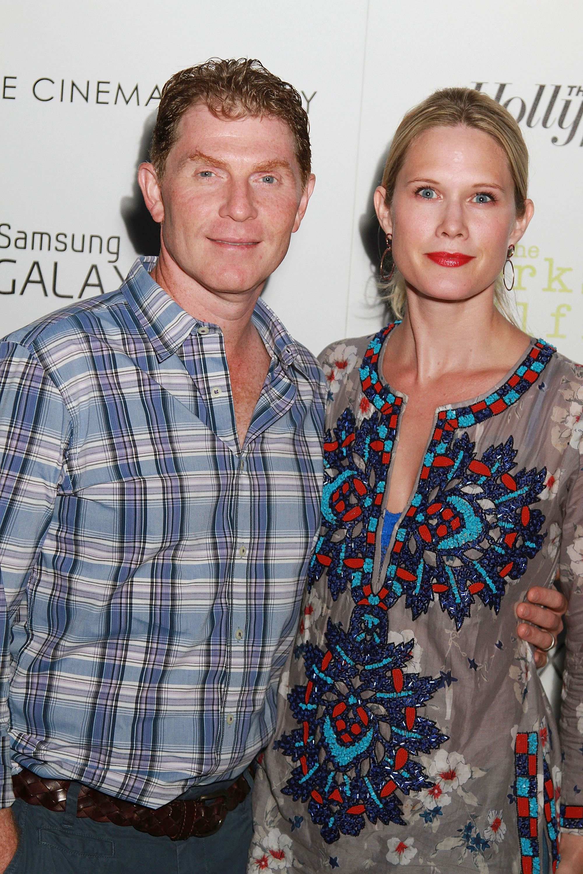 EAST HAMPTON, NY - SEPTEMBER 02:  Bobby Flay and Stephanie March attend The Cinema Society, The Hollywood Reporter And Samsung Galaxy S III Special Screening Of 'The Perks Of Being A Wallflower' on September 2, 2012 in East Hampton, New York.  (Photo by Sonia Moskowitz/Getty Images)